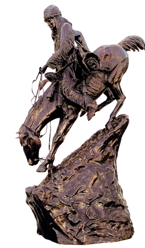 Bronze Remington Mountain Man Statue - ASB 002