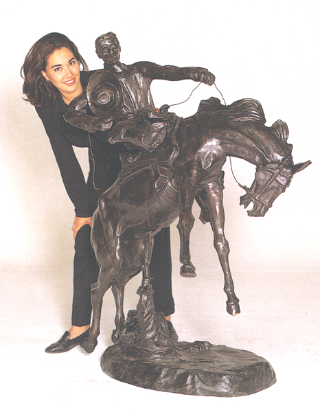 Bronze Bronco Buster Statues - ASB 060R