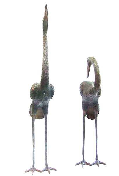 Bronze Heron Fountains - DD 1007