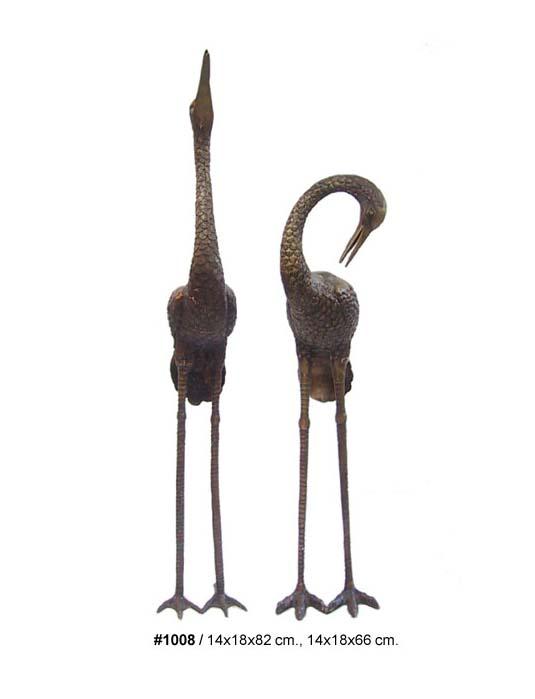 Bronze Heron Fountains - DD 1008