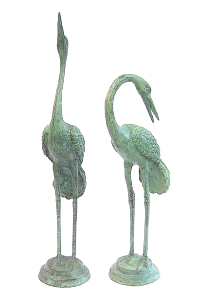 Bronze Heron Fountain/Statue - DD 1012