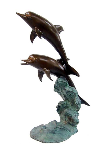 Bronze Dolphin Fountains - DD F-1023S