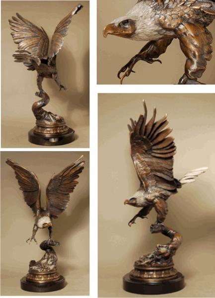 Bronze Eagle Statues | Bird of Prey - ASB 115MO