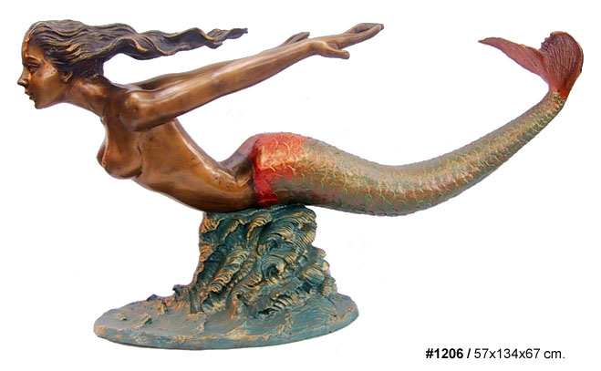Bronze Mermaid Table Base - DD T-1206