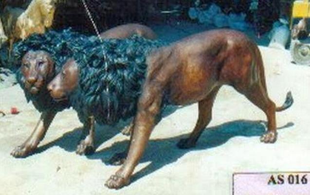 Bronze Lion Statues - DD A-016