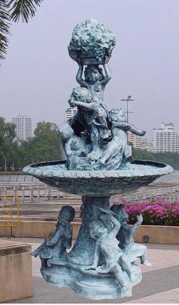 Bronze Children Fountain - BB 178-31