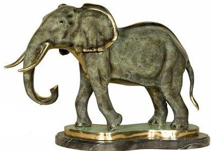 Bronze Elephant Statue - AF 18028NA
