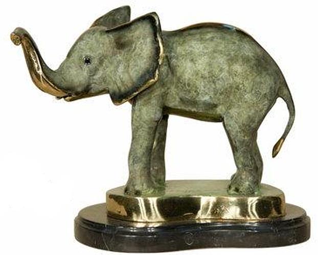 Bronze Elephant Statue - AF 18031NA