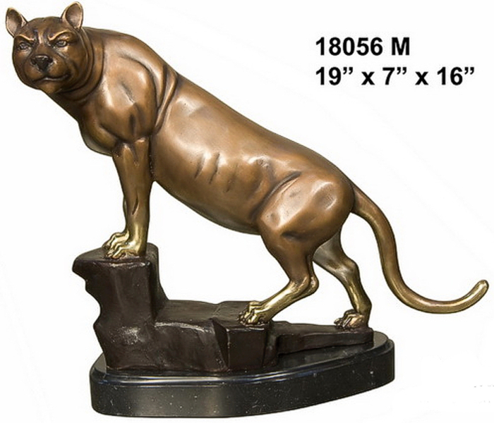 Bronze Puma Statues - AF 18056M