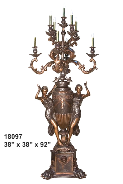 Bronze Ladies Candelabra - AF 18097
