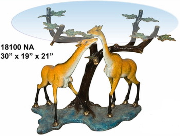 Bronze Giraffe Table Base - AF 18100NA