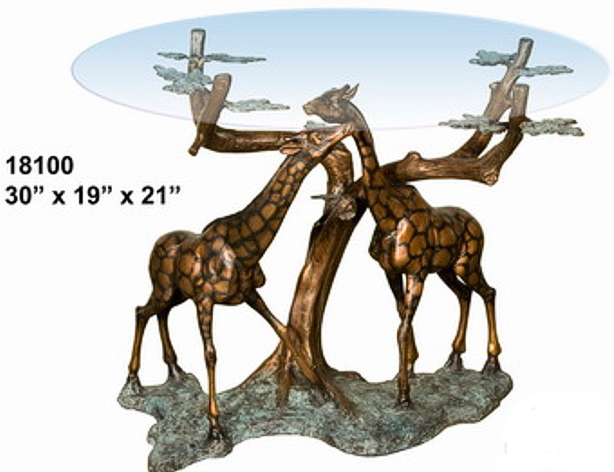 Bronze Giraffe Table Base - AF 18100
