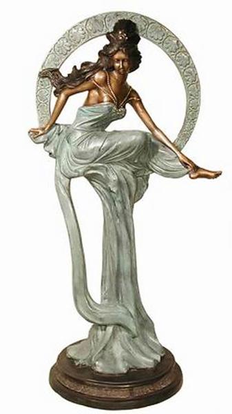 Bronze Moon Lady Statue - AF 19680