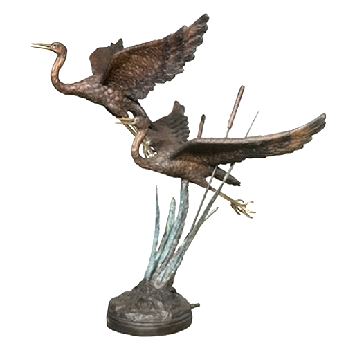 Bronze Swan Fountains & Statues - AF 22018