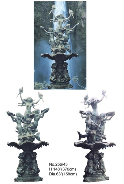 Bronze Mermaid Fountains - BB 256-45