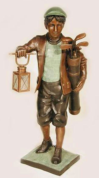 Bronze Caddy & Working Light Statue - AF 25603
