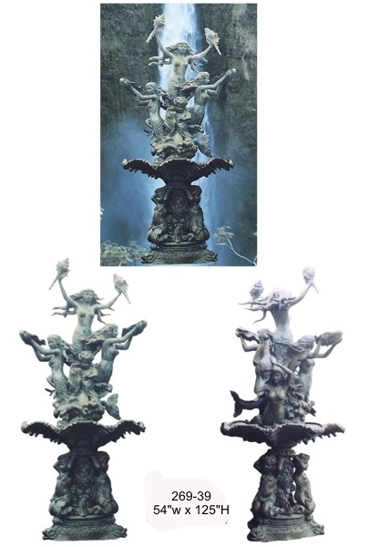 Bronze Mermaid Fountains - BB 269-39-F