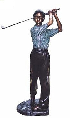 Bronze Boy Golfer Statue - KT 273-9