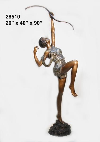 Bronze Diana Huntress Statue - AF 28510