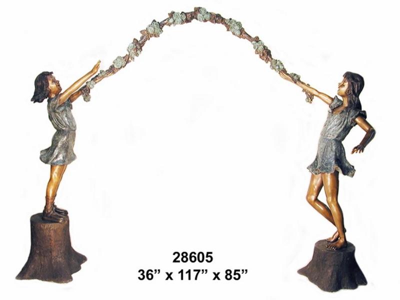Bronze Children Statues - AF 28605