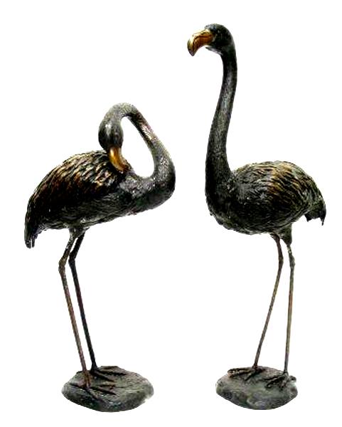Bronze Flamingo Statues - AF 28630