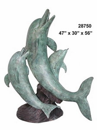 Bronze Dolphin Fountains - AF 28750