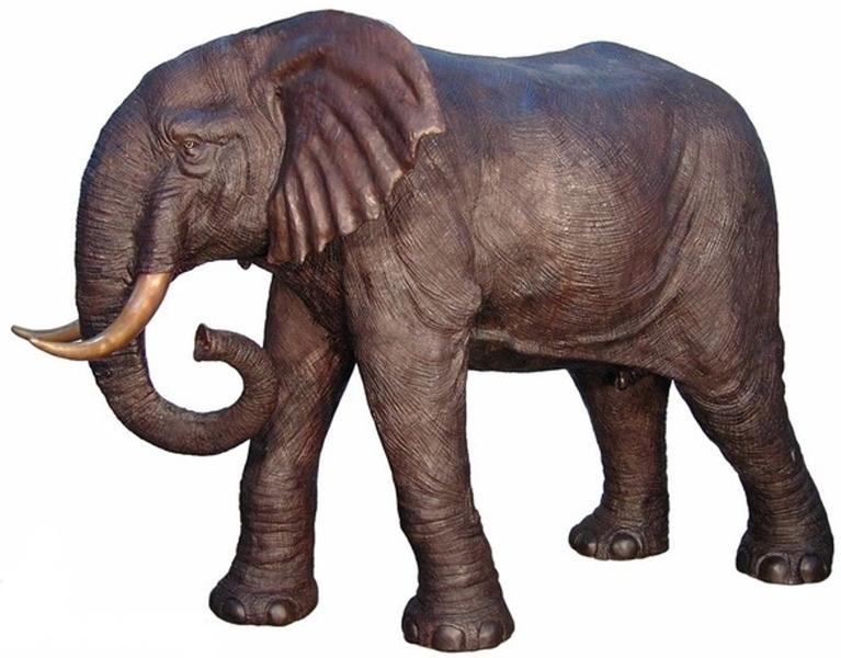Bronze Elephant Statue - AF 28794