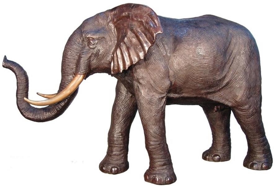 Bronze Elephant Statue - AF 28797