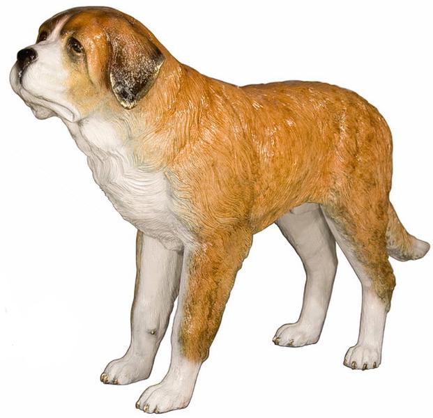 Bronze Dog St. Bernard Statue - AF 28800NA
