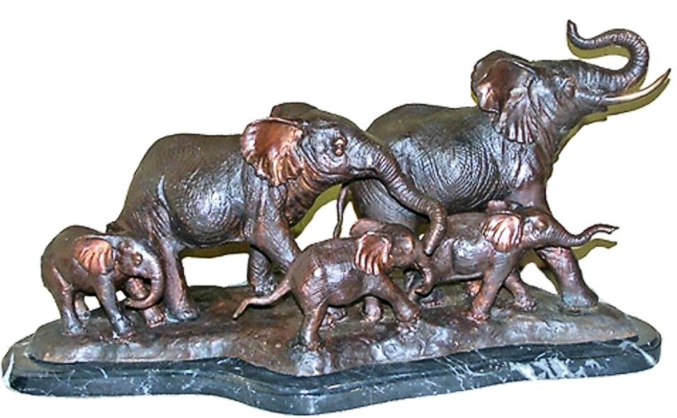 Bronze Elephant Statue - AF 28911