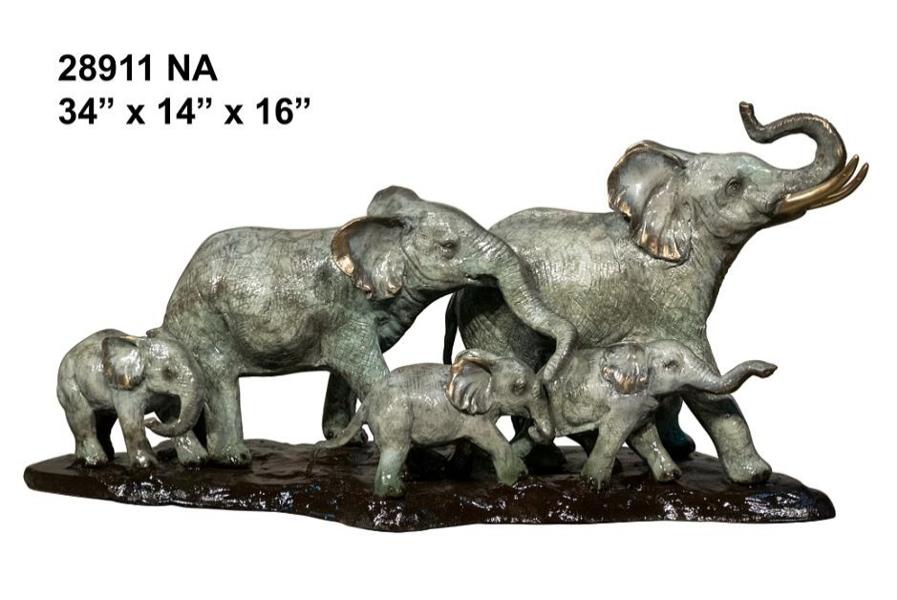 Bronze Elephant Statue - AF 28911 NA