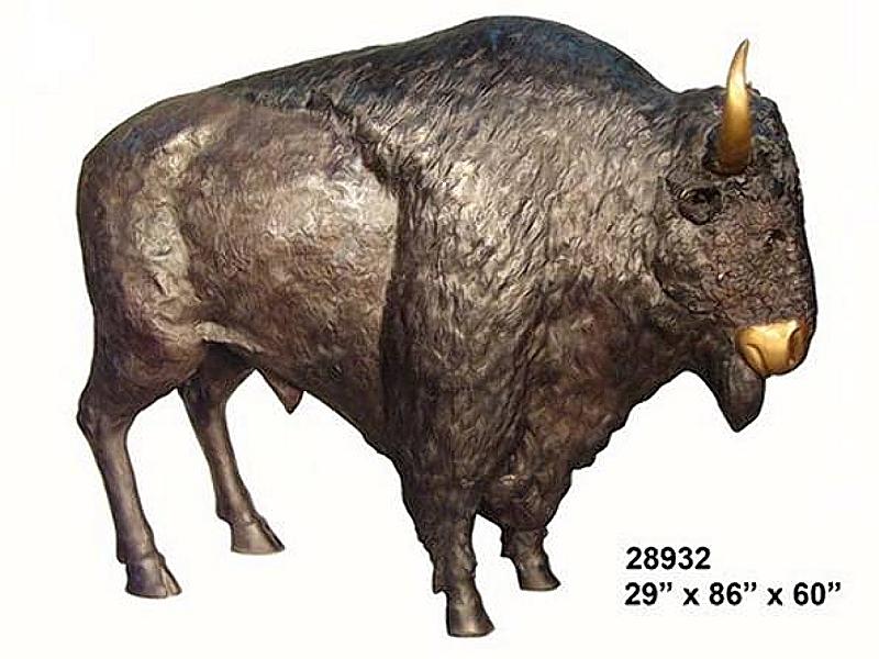 Bronze Bison Statues - AF 28932