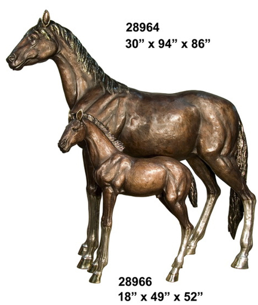 Bronze Horse Statues - AF 28964-66