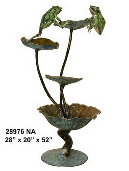 Bronze Frog Fountains - AF 28976NA