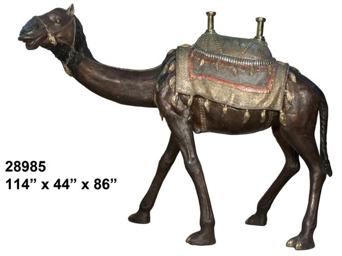 Bronze Camel Statue - AF 28985