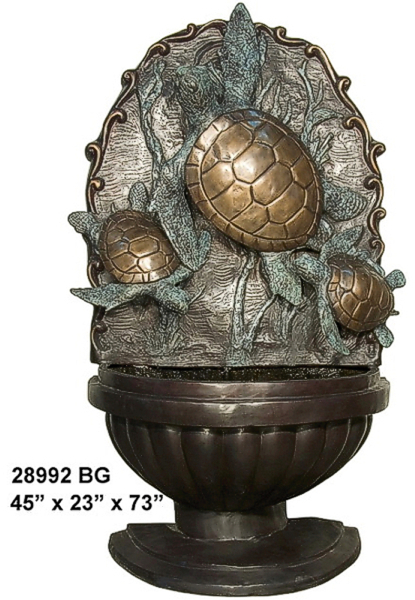 Bronze Turtle Wall Fountain - AF 28992BG