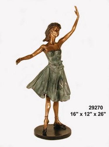 Bronze Lady Ballerina Statue - AF 29270