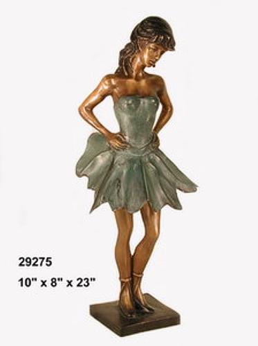 Bronze Girl Ballerina Statues - AF 29275