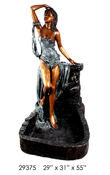 Bronze Sexy Lady Water Fountain - AF 29375