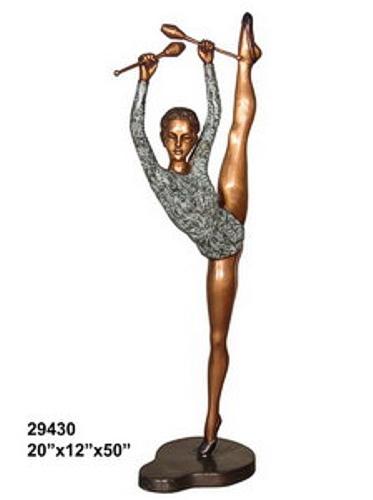 Bronze Gymnast Statue - AF 29430
