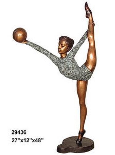 Bronze Gymnast Statue - AF 29436