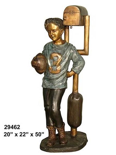 Bronze Football Player Mailbox - AF 29462-M