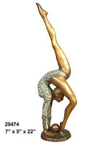 Bronze Gymnast Statue