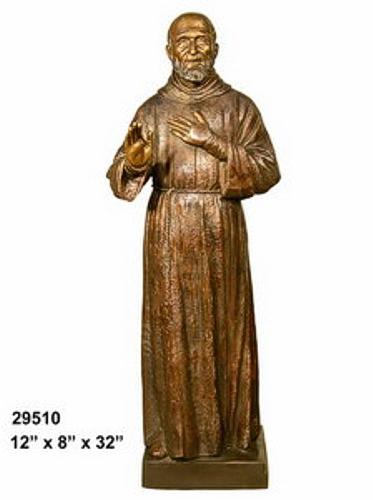 Bronze Saint Padre Pio Statue - AF 29510