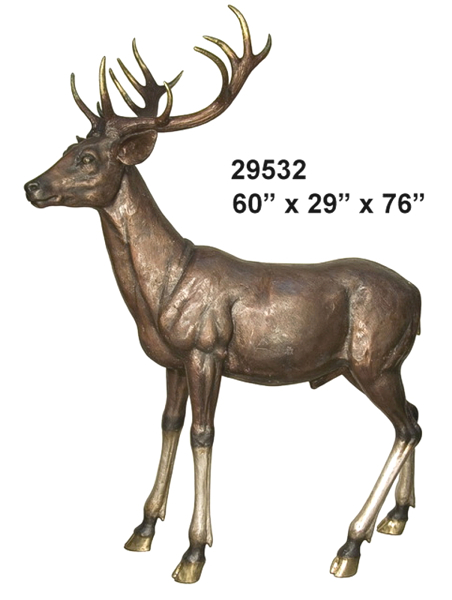 Bronze Deer Buck Statues
