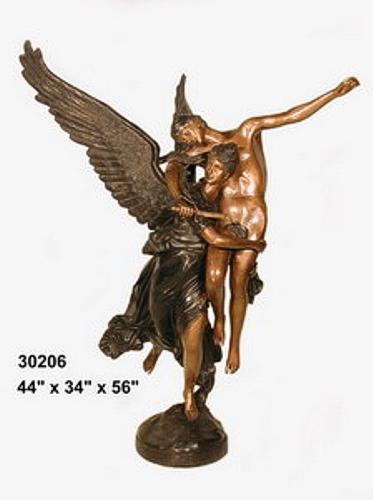 Bronze Lady Gloria Victis Statue - AF 30206