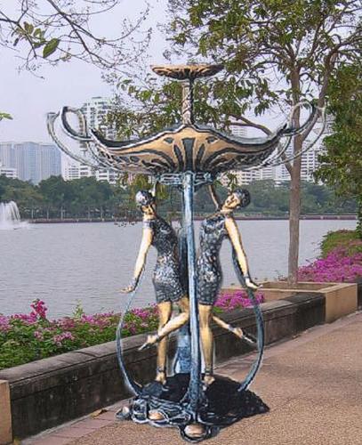 Bronze Ladies Tier Fountain - BB 310-17