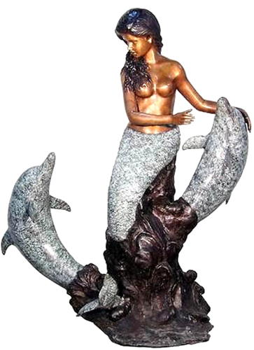 Bronze Mermaid Fountains | Bronze Mermaid Statues - AF 31093N
