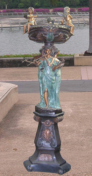 Bronze Ladies & Cupid Fountain - BB 313-16