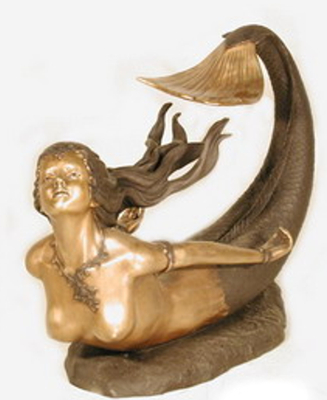 Bronze Mermaid Table - AF 32062